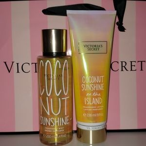 New coconut sunshine spray and lotion